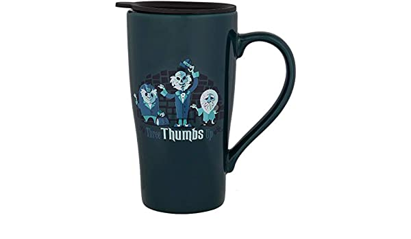 Disney Parks Haunted Mansion Hitchhiking Ghosts Three Thumbs Up Travel TO GO Mug