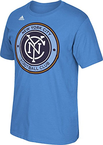 [MLS New York City FC Men's Logo Set Tee, Small, Light Blue] (Football Club Cotton)