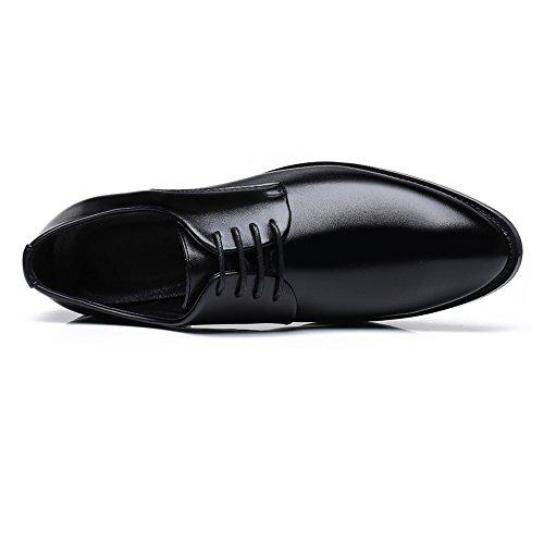 Color Lace EU da Marrone fodera shoes Leather Classic Matte Scarpe 44 in Dimensione Pelle Up uomo traspirante Scarpe lavoro da da uomo Fodere Jiuyue Nero Upper PU 2018 Uomo pqS6Sg