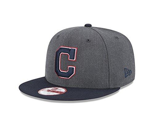 MLB Cleveland Indians Heather 9Fifty Snapback Cap, One - Indians Logo Baseball