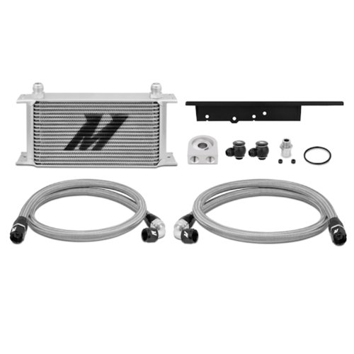 Oil Racing Cooler Kit - Mishimoto MMOC-350Z-03 2003-2009 Nissan 350Z/2003-2007 Infiniti G35 Oil Cooler Kit, Silver