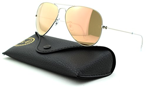 Silver ban Aviator Sunglasses Matte brown Large Lens Frame Rb3025 Metal Mirror Unisex 019 Pink z2 Ray zwfdEqz