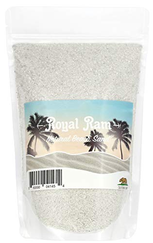 Royal Ram 2 pounds Natural Decorative Real California Beach Sand - for Interior Decor, Vase Filler, Sand Crafts & More by Royal Ram