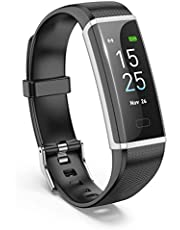Smart Watch with Heart Rate Monitor,Bchance Smart Activity Tracker with Step Counter Color Screen Fitness Tracker Sleep Monitor Call/SMS Remind Pedometer Watch for iOS & Android Smartphone - Black