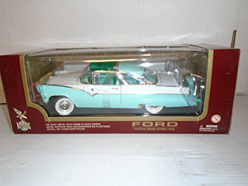 llection 1:18 Scale 1955 Fairlane Crown Victoria (Green and White) Die Cast Metal ()
