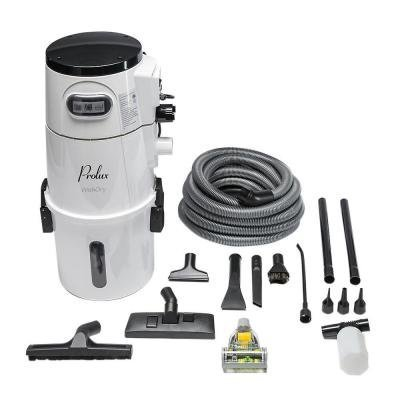 White Bagless Vacuum (Wet/Dry Vacuum with Tool Kit 5.88 Gal. 1500 Watts Bagless and Wall Mounted, White in Color, Great for Garage)