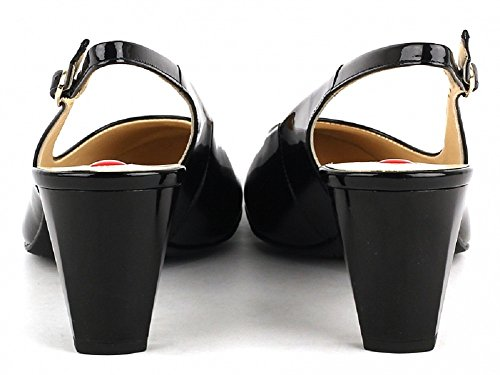 Leather Back Ladies 100 Black 7 and Nude Women's Smart 106903 Fashion Sling Schwarz HO Schwarz100 and Patent 800 Hogl Patent Shoe in 530 Black Shoes wq8EnHf