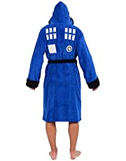 Doctor Who Tardis Hooded Fleece Bathrobe