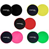 #2: Synergee Gliding Discs Core Sliders. Dual Sided Use on Carpet or Hardwood Floors. Abdominal Exercise Equipment