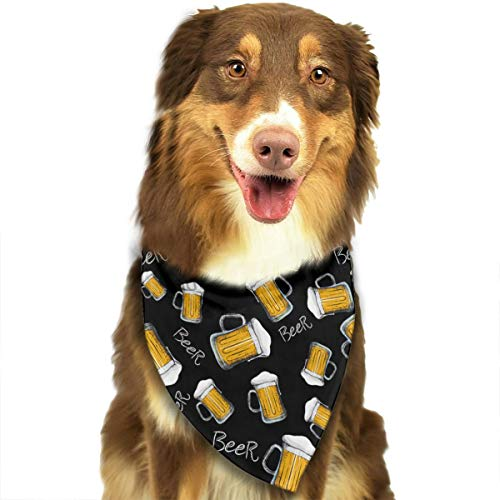 FRTSFLEE Dog Bandana Beer Mug Pattern Scarves Accessories Decoration for Pet Cats and -