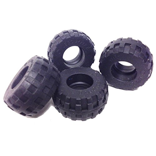 Lego Parts: Tire 24 x 12 R (Style - Balloon) (Pack of 4 - Black) Baxter Moc