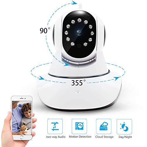 Security Camera,WiFi Camera,IP Camera with Night Vision Two Way Audio,Motion Detection,Auto Motion Tracking,HD 1080 PTZ Indoor/Outdoor,Care Baby Elder Pet Nanny Monitor and Mor.