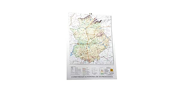 Mapa en relieve de Extremadura: Escala 1:900.000: Amazon.es: All ...