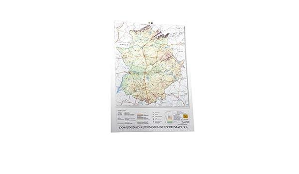 Mapa en relieve de Extremadura: Escala 1:900.000: Amazon.es: All ...