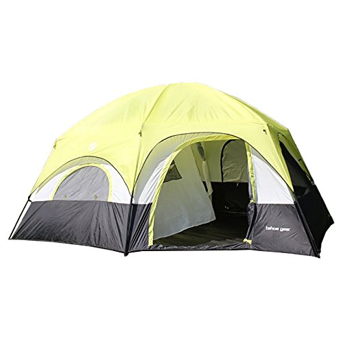 Tahoe Gear Coronado 12 Person Dome 3 Season Family Outdoor Camping Cabin - Cabin Family Dome Tent