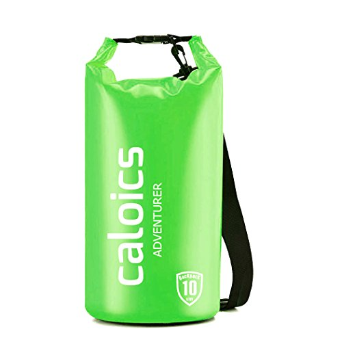 Caloics Waterproof Dry Bag - Roll Top Dry Compression Sack Noctilucent Keeps Gear Dry for Kayaking, Beach, Rafting, Boating, Hiking, Camping and Fishing & 100% - Galaxy Mountain Sleeping Bag