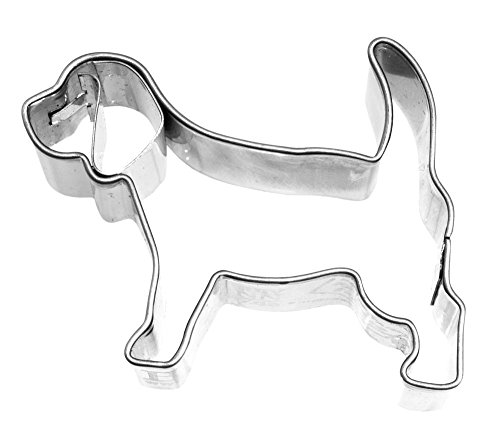 Beagle Cookie Cutter<br>Stainless Steel<br>3.6 x 2.6 x 1 inches