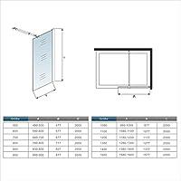 Mampara ducha Panel Pantalla Fija cristal 8mm templado para baño Barra 73-120cm (Panel 50x200cm): Amazon.es: Bricolaje y herramientas