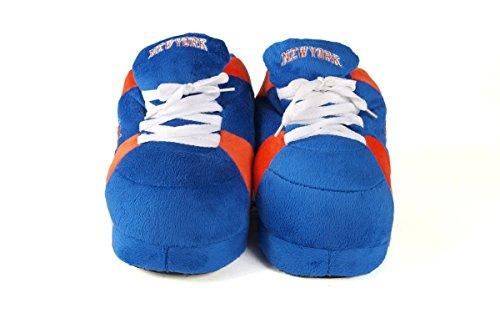 Happy Feet Og Behagelige Føtter Menns Og Kvinners Offisielt Lisensierte Nba Sneaker Tøfler New York Knicks
