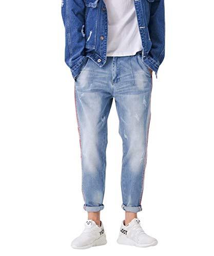 Mezclilla Clásico Pantalones De Cómodamente Blau4 Ocio De De Pantalones Pantalones Mezclilla De Pantalones Moda Vintage Pantalones De De Mezclilla Chicos De Vaqueros Los Suaves Hombres Destruidos vpqgAxz