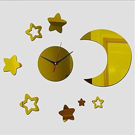 Djkaa Nuevo Aguja de Cuarzo al por Mayor Reloj de Estilo Retro Reloj de Pulsera de acrílico Moderno Espejo Pegatinas de Pared35 * 46 cm