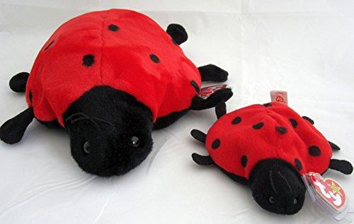Ladybug Bear - Ty Beanie Buddy & Baby Ladybug Set - Lucky