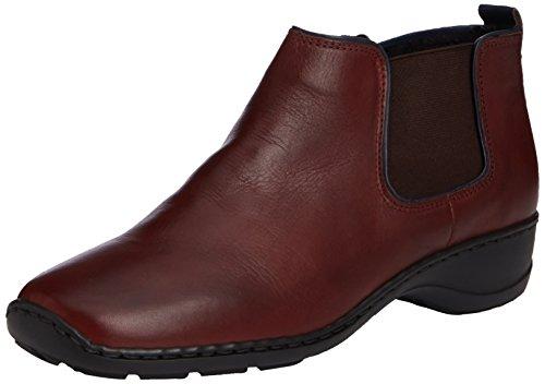 Rieker 58351-35 - Botas de cuero mujer rojo - Red (Burgundy)