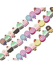 Sadingo Candy Snoepparels, 40 stuks polymeerklei kralen), kleurrijke kralenmix willekeurige mix, doe-het-zelf kindersieraden
