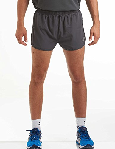 time to run Men's Lightweight Pace Running/Gym/Athletic/Training Shorts by Medium Charcoal