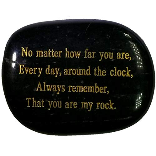 Long Distance Relationships Gifts,No matter how far you are, Everyday around the clock, always remember, that you are my rock. Engraved rock, Friendship or Relationship Distance Gift