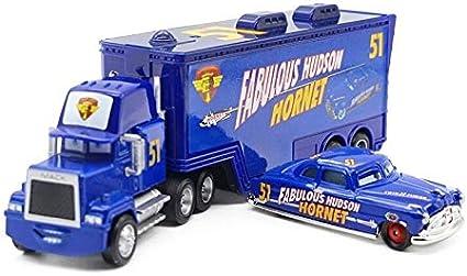 Disney Pixar Cars No.51 Mack Racer/'s Truck /& Fabulous Hudson Hornet Toy Model