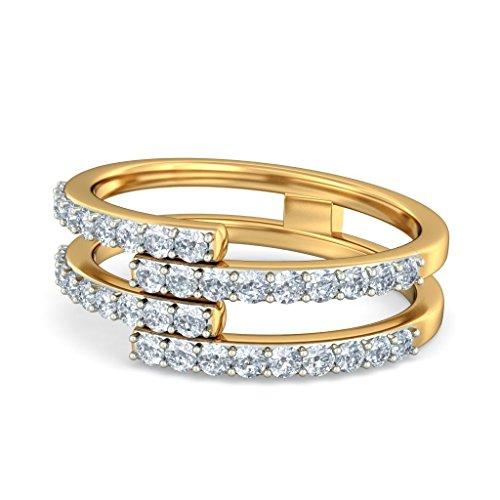 14K Or jaune, 0,43carat Diamant Blanc (IJ | SI) en diamant