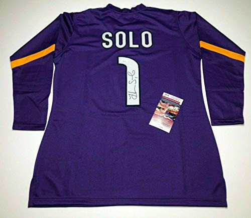 Autographed Hope Solo Jersey - * USA Gold Medal WPP236945 - JSA Certified - Autographed Soccer Jerseys