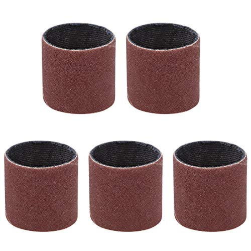 uxcell 1 inch x 1 inch Sanding Sleeves 120 Grits Sandpapers Band Drums 5 Pcs