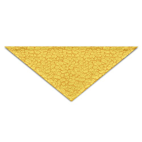 YanHill Mac And Cheese Yellow Pet Bandana Triangle Dog Cat Neckerchief Bibs Scarfs Accessories For Pet Cats And Baby - Triangle Cheese