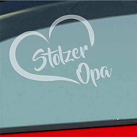 Stolzer Opa Liebe Herz Großvater Enkel Auto Aufkleber Sticker Heckscheibenaufkleber Auto