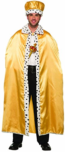 Forum Novelties Royal King Cape for Adults, Gold