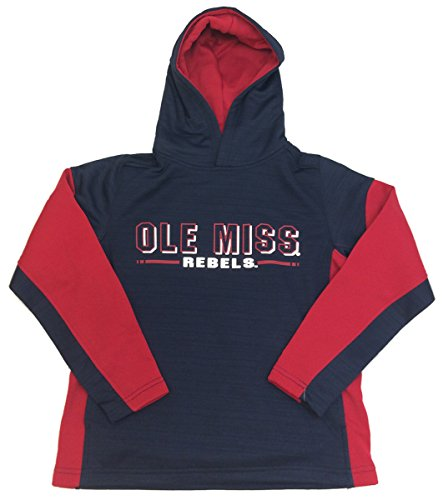 Setter Youth Sweatshirt - Colosseum Ole Miss Rebels Youth Setter Hooded Sweatshirt-Navy-small