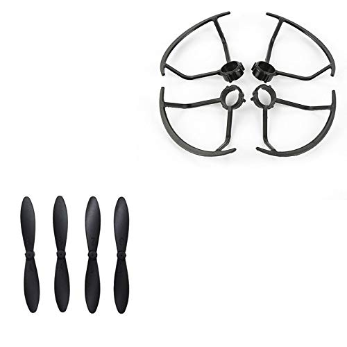 ROWEQPP 4pcs Blade + 4pcs Propeller Protective Cover Replacement for LF606 JD-16 D2 SG800 M11 Quadcopter RC Drones Spare Parts ()