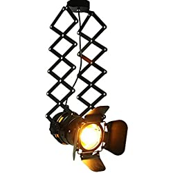 LightInTheBox LightInTheBox Vintage LED Track Light Loft Industrial Spotlight Pendant Light Black Track Lights Spotlights Ceiling Lamp Lighting Fixture