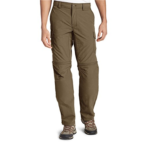 Eddie Bauer Men's Exploration 2.0 Convertible Pants, Saddle Regular 38/30