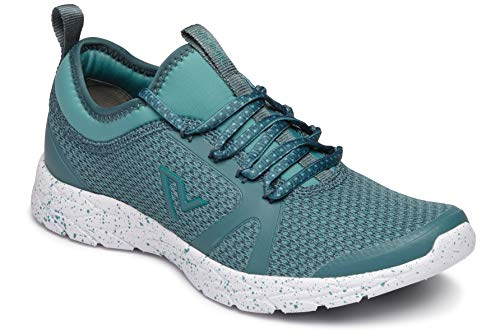 (Vionic Women's Brisk Alma Lace-up Sneakers - Ladies Walking Shoes with Concealed Orthotic Arch Support Turquoise 6.5 M US)