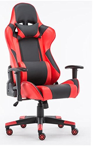 Sleekform Ergonomic Gaming Chair - Large - Stylish, Racing Style, High-Back Office Chair - Swivel Computer Chair With Lumbar Support & Headrest - Reclines Back 160 Degrees - Ultra Comfortable