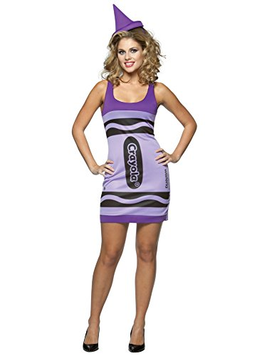 [Crayola Tank Wisteria Adult, size 4-10  Multicolored] (Womens Tank Dress Wonder Woman Costumes)