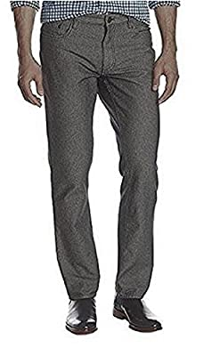 Calvin Klein Jeans Mens Herringbone 5 Pocket Slim Straight Pant (32x32, Chrome)