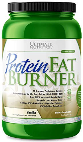 Ultimate Nutrition Protein Fat Burner Whey Protein Powder for Weight Loss - Keto Friendly with Natural Hunger Reducing Ingredients, 30 Servings, Vanilla