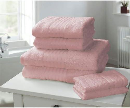 Windsor - Toalla de baño, algodón egipcio peinado, color rosa: Amazon.es: Hogar