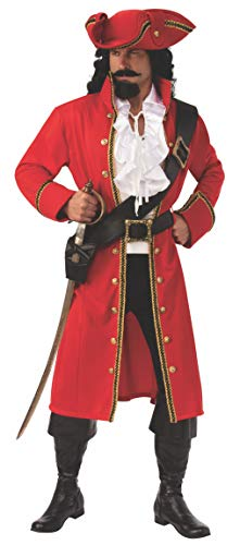 Mens Sea Captain Halloween Costume (Rubie's Opus Collection Men's Pirate Captain Costume, As Shown,)