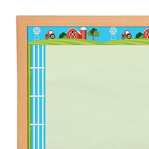 Fun Express - Farm Bulletin Board Border - Educational - Classroom Decorations - Bulletin Board Decor - 12 ()