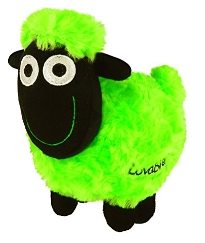 Wacky Woollies Small Sheep Soft Toy – Queasy the Green She